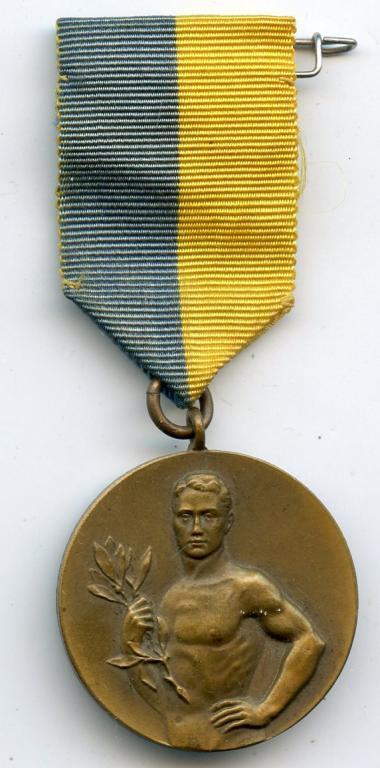 ШВЕЦИЯ медаль Спортивное общество Атлет 1934г.