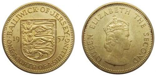 1957 Джерси 3 пенса (Елизавета) UNC (COINS NOTES)