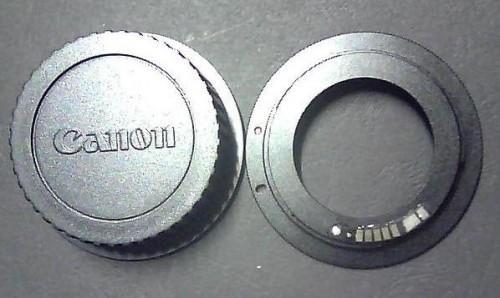 Переходник адаптер М42 для Canon + крышка для объектива