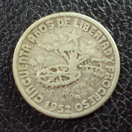 Куба 10 сентаво 1952 год 1902-1952.