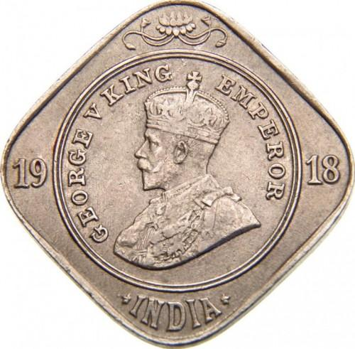 Индия Британская 2 анна  1918 года