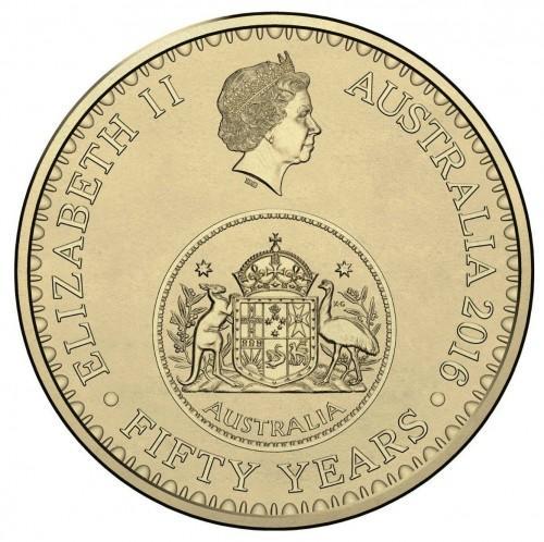 Австралия 1 доллар 2016 года UNC 50 -тие Десятичного обращения