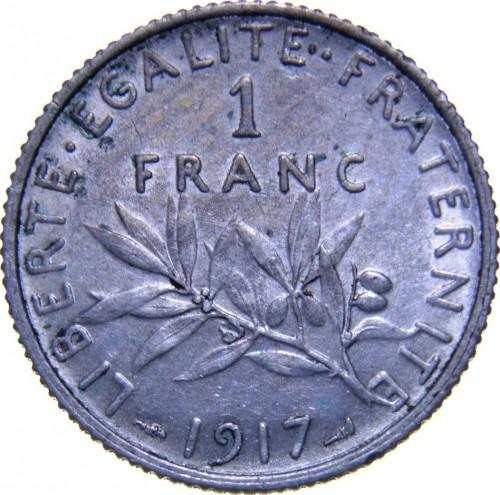 Франция 1 франк 1917 года BU