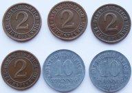 Германия - Веймар Набор монет  1918-1925 годов