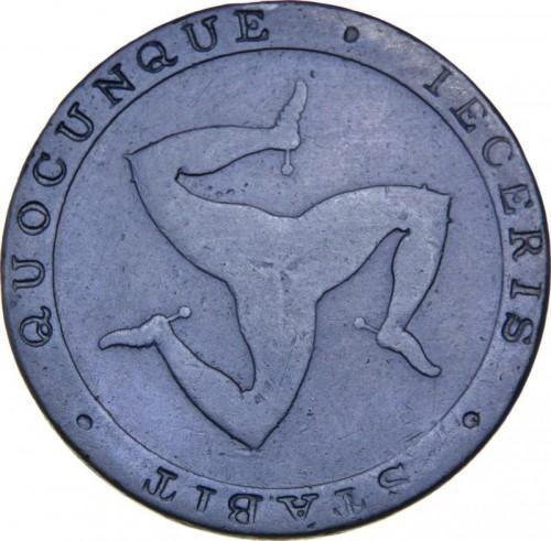 Остров МЭН 1/2 пенни 1831 (токен) года