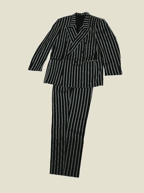 Полосатый мужской костюм