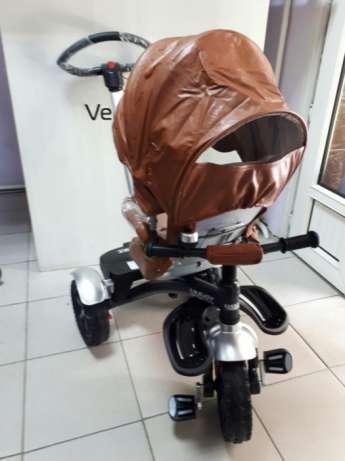 Новый детский трехколесный велосипед lianjoy. Кредит. Экокожа.