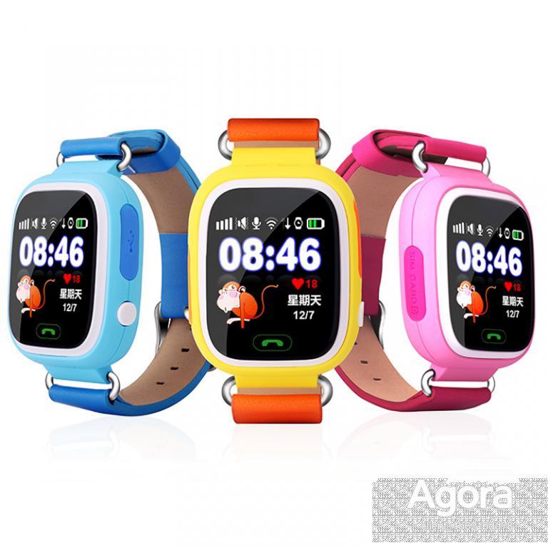 Оригинал. Q90 детские Смарт часы с GPS! Smart baby watch Q90