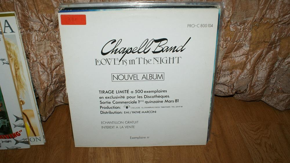 Виниловая пластинка- CHAPELL BAND - LOVE IS IN THE NIGHT /VG++