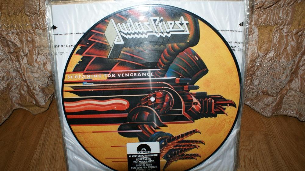 Виниловая пластинка- Judas Priest - screaming for vengeance /pictyredisc / EX
