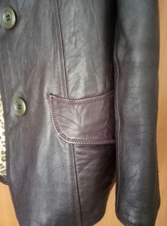 продам пиджак кожаный женский