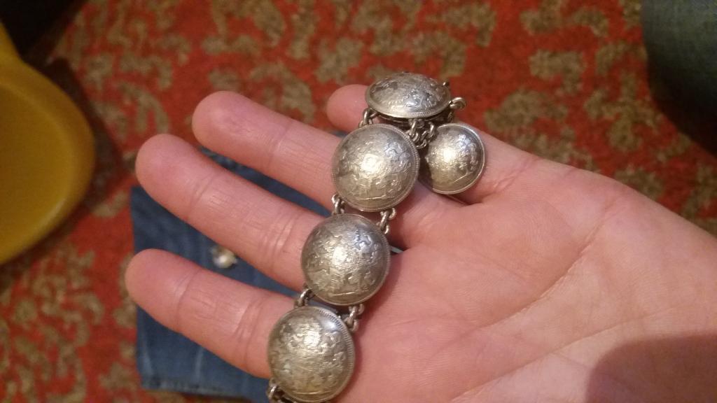 Серебрянный набор19 века