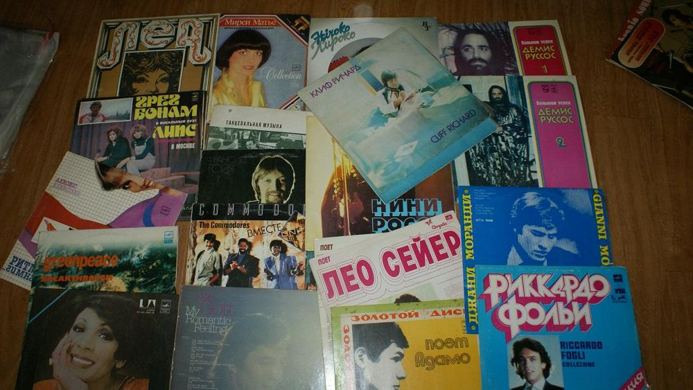 Зарубежная поп музыка -  винил -Мелодия