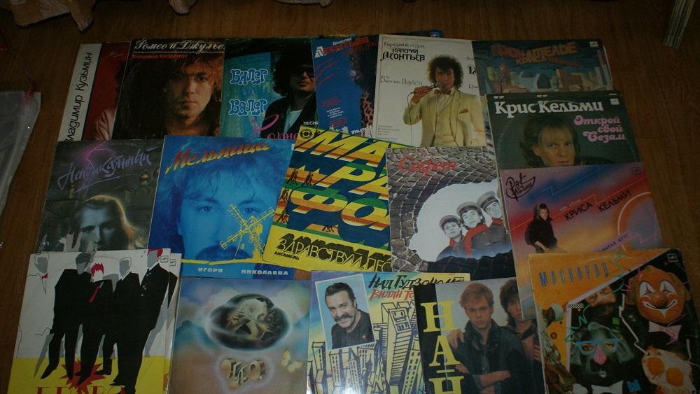 Популярная музыка 80х-  винил -Мелодия