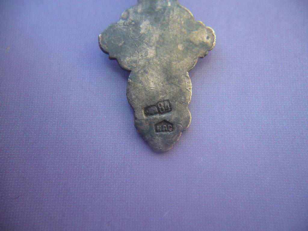 Крестик старинный, серебро 84 пр. (Царская Россия)