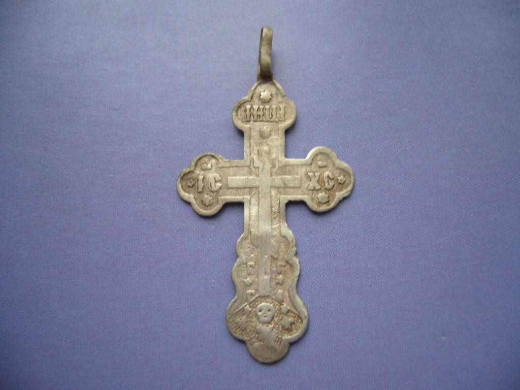 Крестик старинный, серебро 84 пробы. (Царская Россия)