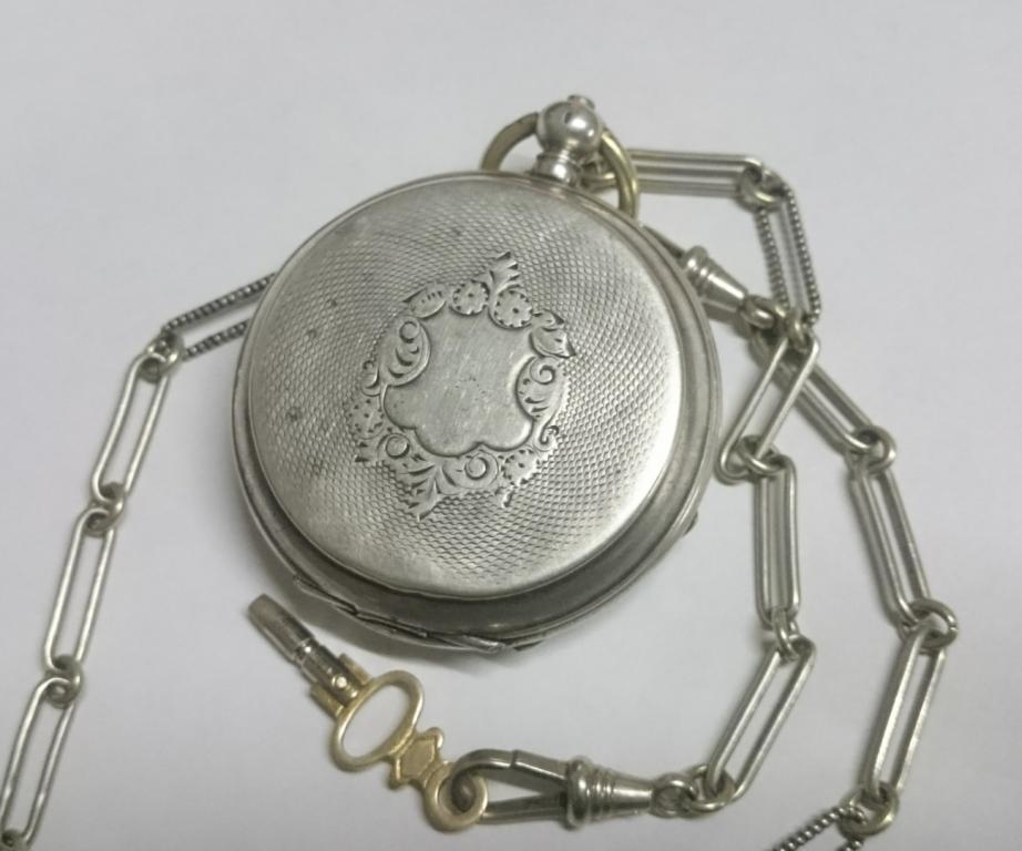 Швейцарские карманные часы серебро Perret & Fils BRENETS