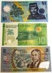 10 полимерных банкнот разных стран !! 1996-2016 гг!! UNC !!
