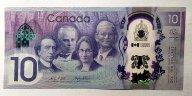 Канада 10 долл 2017г UNC,полимер - 150 лет Конфедерации