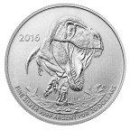 Канада. 20 долл. 2016 г. Тирранозавр Рэкс. Серебро