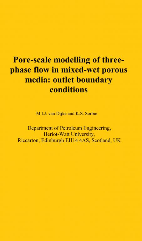Pore-scale modelling of three-phase flow in mixed-wet porous media: multiple displacement chains