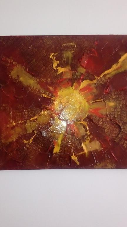 Авторская работа Картина*солнце* масло,холст 600ммх700мм