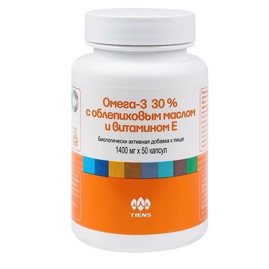 Омега-3 30 % с облепиховым маслом и витамином Е