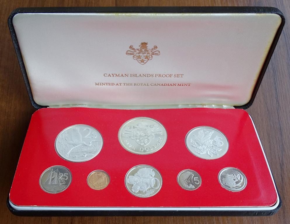 Каймановы острова набор 1976 года с серебром PROOF