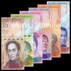 Венесуэла – Набор из 6-ти банкнот 2, 5, 10, 20, 50, 100 Боливаров, UNC