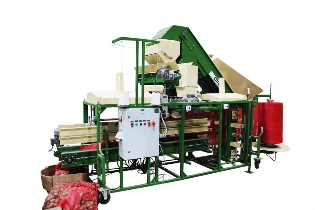 оборудование машина для фасовки упаковки овощей, картофеля, лука, моркови УД-5 с клипсатором
