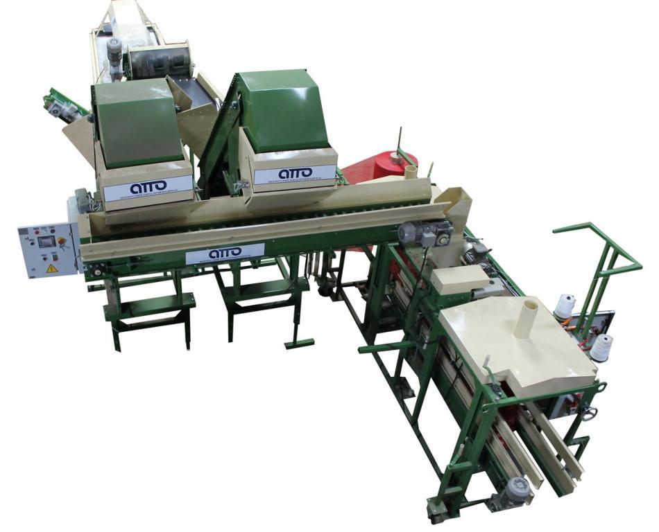 оборудование линия для автоматической фасовки упаковки картофеля, овощей, лука, моркови УД-5+УП-1