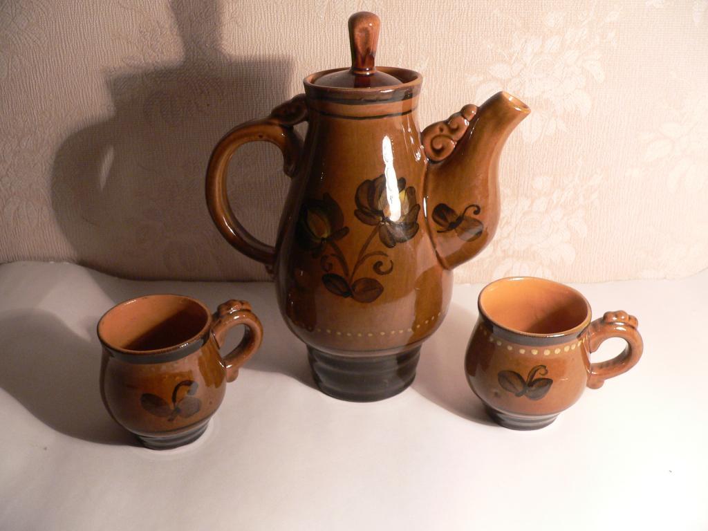 Кофейник керамический, советский, в отличном сохране.