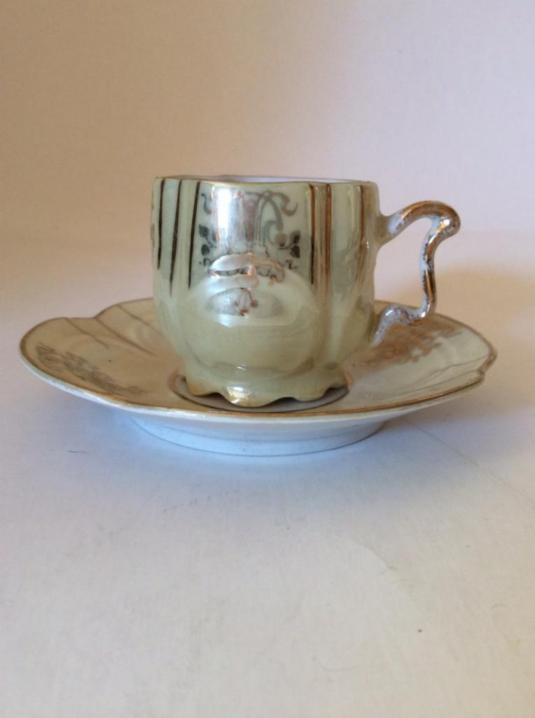 Кофейная пара.Роспись.Золото.Старая Силезия.В прекрасном состоянии.Из коллекции в коллекцию.