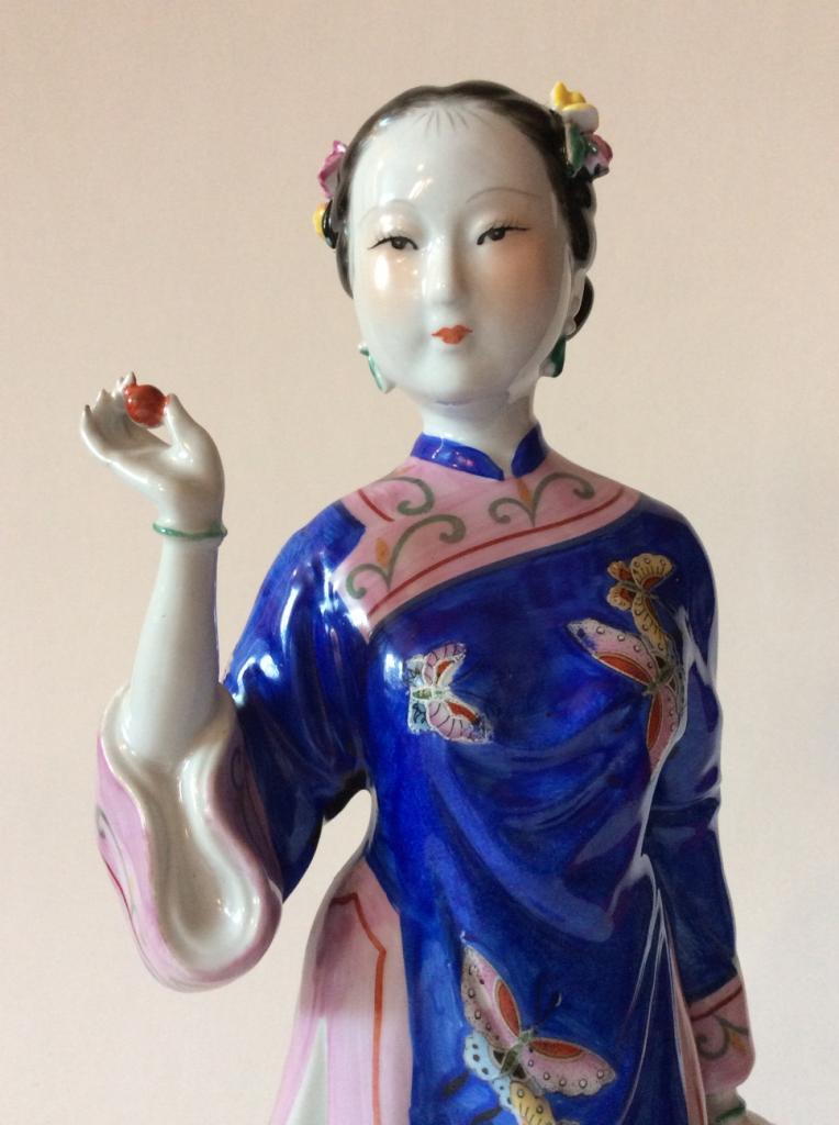 Уникальный лот.Старый Китай.Чио Чио Сан.Высота 36 см.В идеале.