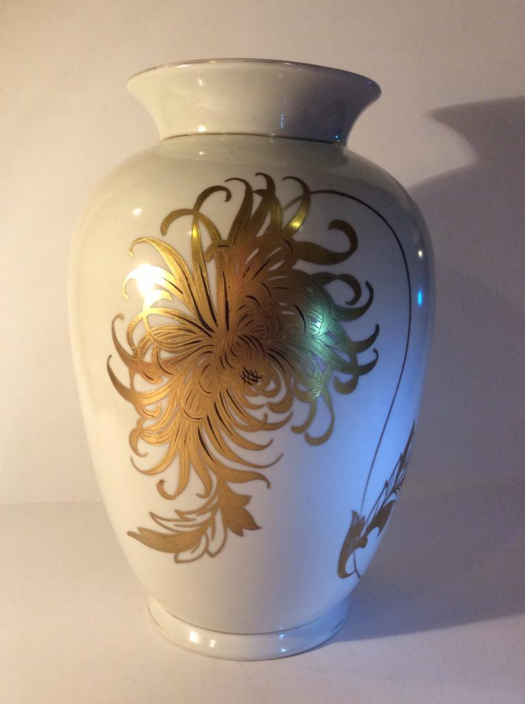 Огромная ваза Oskar Slegelmilch 30 см.Начало прошлого века.Уникальная сохранность и красота!!
