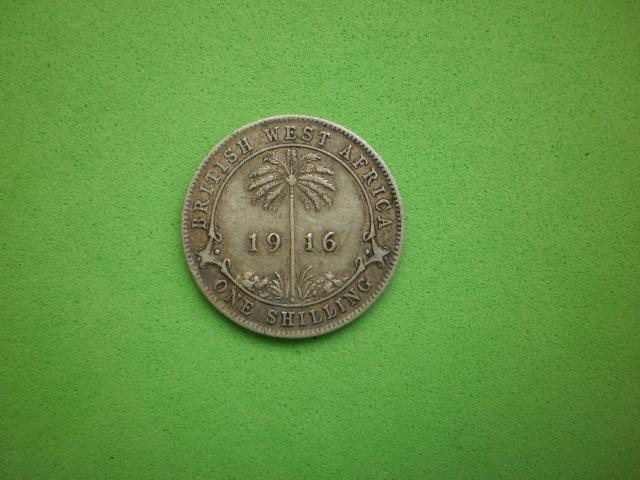 Британская Западная Африка, 1 шиллинг 1916г. (3) СЕРЕБРО