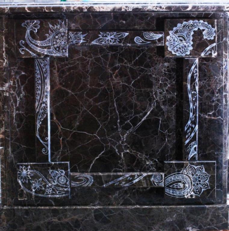 ЭКСКЛЮЗИВ!!! ОТЛИЧНЫЙ ПОДАРОК!!! Письменный стол Sultan Stone из натурального мрамора Imperador Dark
