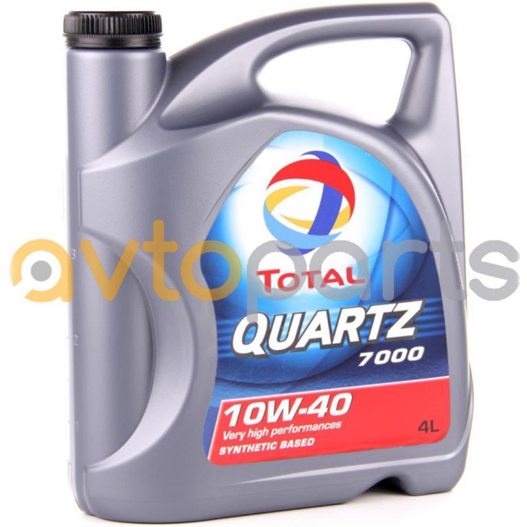 Моторное масло Total QUARTZ 7000 10w40 4l