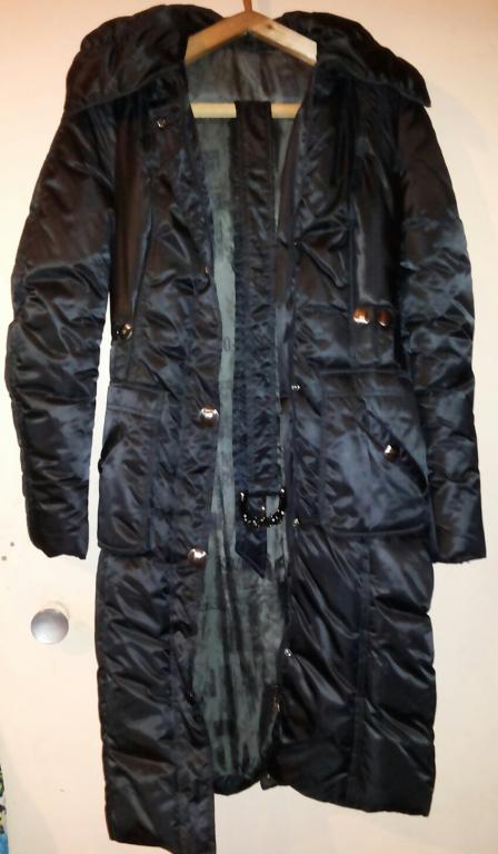 Новая теплая зимняя куртка-пальто с поясом