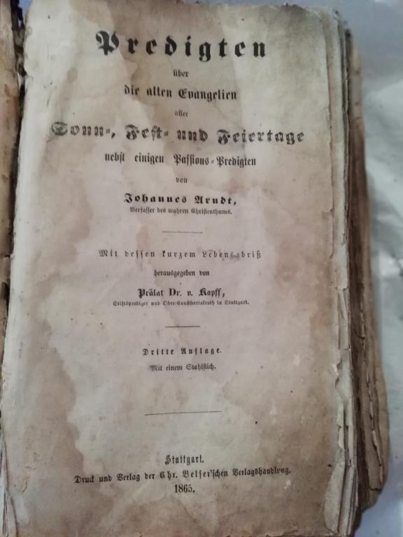 Старинная библия на немецком языке 1865 года