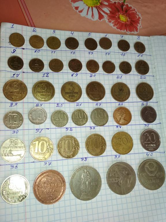 Монеты СССР и иностранные