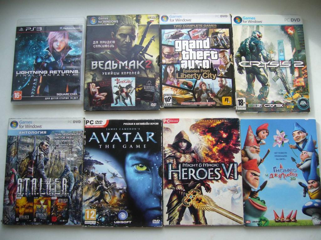Диски 14шт. с играми. DVD,PC DVD, CD, PS3 (Цена за все.)