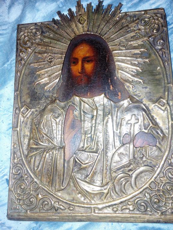 Икона 18 века с благословением великой княгини Елизаветы Федоровна