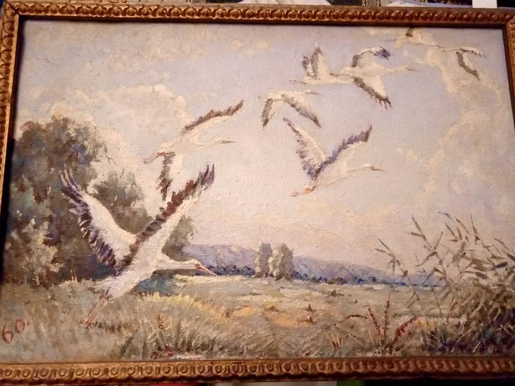 Картин маслом. Автор неизвестен 60й год
