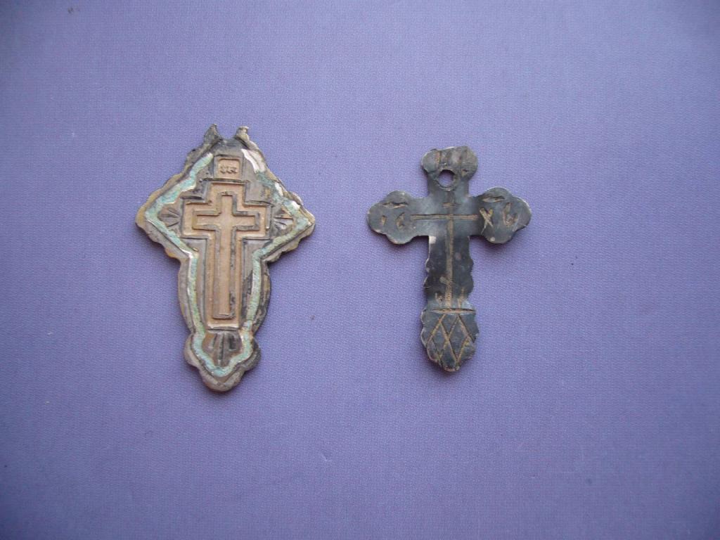 "Крестик (и) старый, серебро 84 пр. клейма ""афч"" и ""нч"" (цена за 2 шт.)"