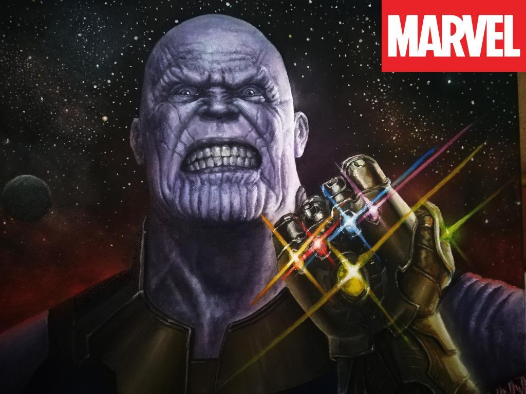 """Картина маслом """"Thanos"""""""