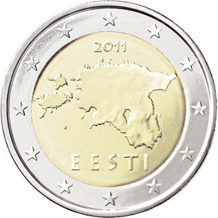Эстония 2 евро 2011 XF