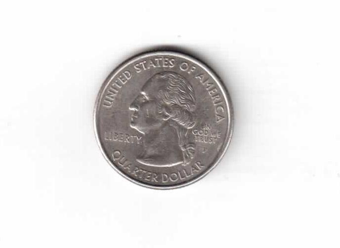 США квотр (25 центов) 1999 год штат Коннектикут