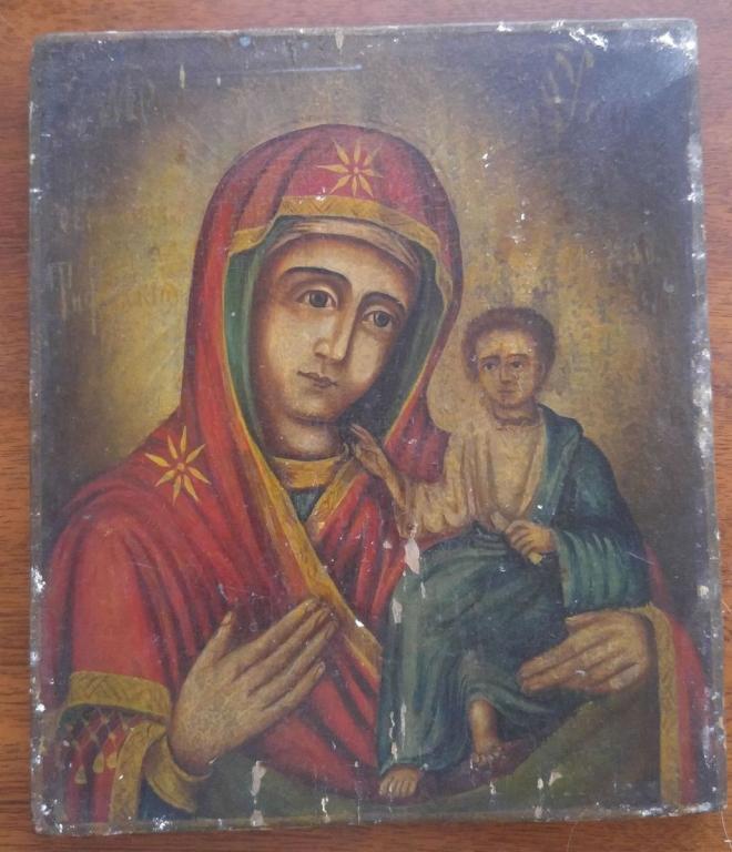 Икона Богоматерь Тихвинская Размер 23 на 19,5 см.
