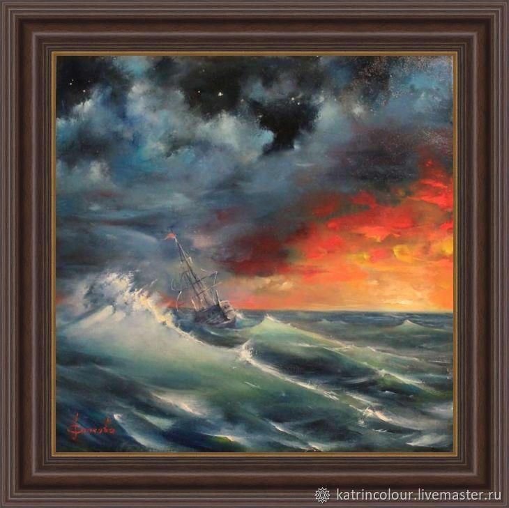Авторская картина маслом Колыбель морской пейзаж